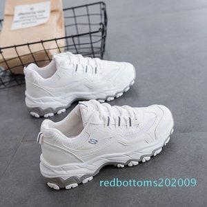 Ake Sia femenino ocasional de las mujeres cómodo Mujer Señora cordones de las zapatillas Chaussure Espesar Soled Waddle ocio zapatos para caminar r09
