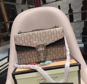 L'alta qualità Nuova borsa delle donne del corpo Bag Croce Catene Borse Famosa in pelle genuien raccogliere polvere insacca il trasporto libero Portafogli 400.249