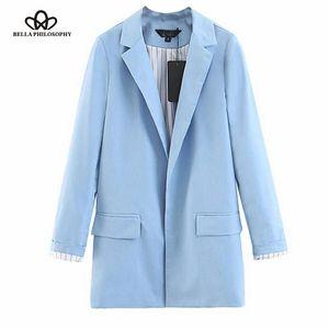 2019 Autumn abbassare donne del collare signora dell'ufficio giacca casual femminile outwear a strisce donne della stampa puntino signore sportiva del cappotto top