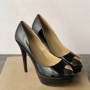 woemen Designer Sandals luxe Talons hauts Rouge Bas Nude Pummps En Cuir Véritable orteils ouverts orteils ronds 13 cm Chaussures De Mariage