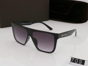 Luxus- top große qualtiy neue Art und Weise 709 Tom Sonnenbrille für einen Mann eine Frau Erika Brillen ford Designer Marke Sonnenbrillen mit tom original box