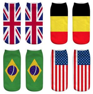 Женщины мужчины носки мода 3D американский флаг США носки повседневная хлопок носок унисекс носки Kka6528