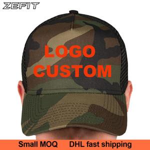cap Sporting personalizzare logo visiera camouflage mimetica dell'esercito berretto da baseball ordine per il cliente golf tennis cappello papà sole su misura di piccole dimensioni