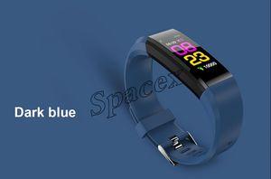100pcs 115 Plus Fitness Smart Bracelet IP67 waterproof Monitor Sleep monitoring Multi Colors Herat Rate pk M3 M4 ID116 DZ09
