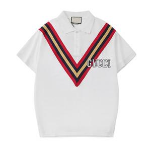Marque Nouveaux Hommes Polos Chemises De Mode Classique Casual Polo T Chemises High Street Vêtements Designer Snake Bee Broderie Hommes Polos Chemise