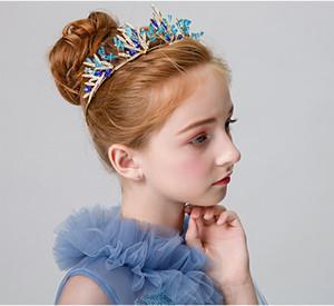 chica corona accesorios para el cabello de Navidad de los niños del tocado de la venda de cumpleaños preciosa corona de la princesa niña coreana