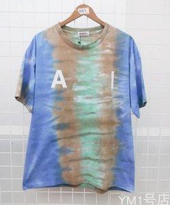 Sommermens Designer-T-Shirts High Street Hip Hop Tie-dye Gradient Weiblicher Aufmaß lose Street Dance Mode kurze Hülsen-beiläufige