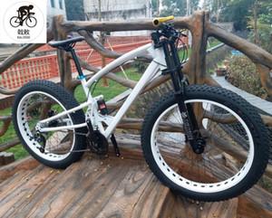 Kalosse completa suspensión de la bici de grasa 26 * 4.0 llantas de 17 pulgadas frenos hidráulicos de la bicicleta M370 grasa, moto de nieve 27 de velocidad