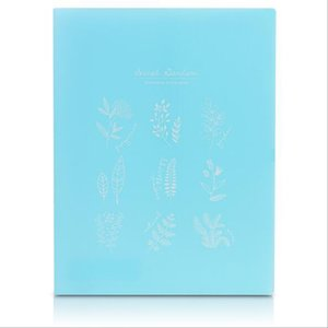 High quality folder plastic folder plaid wood series small clear jelly color file set information set student stationery 07