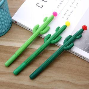 École Pen Cactus Gel Bureau Signature Pen Mignon Creative Design personnalité des étudiants Papier à lettres Livraison gratuite