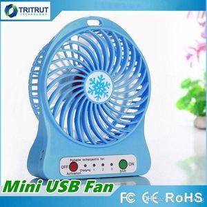 100% Probado Recargable Ventilador de Luz LED Enfriador de Aire Mini Escritorio USB 18650 Batería Recargable Ventiladores Con Paquete de Venta al por menor para tablet PC MQ50