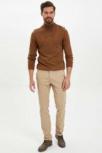 DeFacto Men Pure Color Классический Стиль Мода Повседневная Stretch Тонкий джинсовые брюки карман брюки мужчина New -M2937AZ19AU