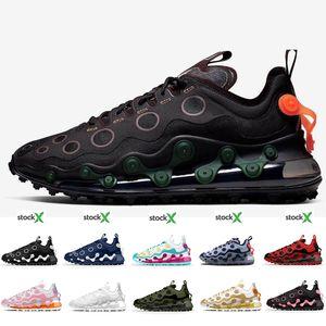 Novas 720 ISPA Running Shoes Kanye 720s Black White Designer Reagir Elemento 87 Womens Sport Mens Shoes Formadores Tamanho 36-45