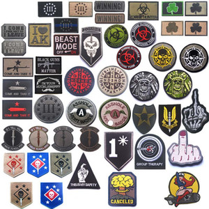 Outdoor HOOK e LOOP Fastener Patches Bracciale ricamato Badge ricamati adesivi bracciali in tessuto Tattico Patch ricamo NO14-122