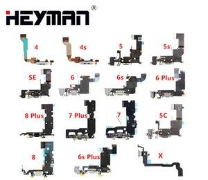 Flex Câble Pour Apple iPhone 4 / 4S / 5 / 5S / 5C / SE / 6 / 6 splus/7 Plus/8/ X/Casque Jack / port dock usb charge connecteur microphone