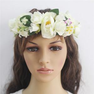 Flower Crown White Girls Headpiece Floral Headband grinalda Womens Wedding Silk nupcial