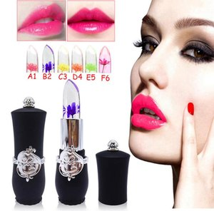 LipsticK Set Sexy Long-lasting Beauty Bright Flower Crystal Jelly Lipstick Magic Temperature Change Color Lip Makeup 3.25