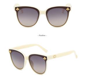 Nuovo modo caldo Tri-color Occhiali da sole polarizzati piccola ape GG signora occhiali da sole di lusso Big Anti-UV Occhiali migliori vetri di vendita di trasporto