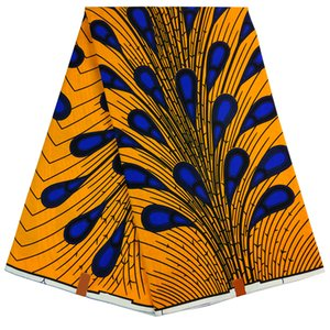 african peacock feather print fabric guaranteed real dutch wax high quality pagne wax dutch 6yards handmade materials clothing supplies