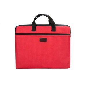 Canvas Document Bag Oxford Cloth Briefcase Portable Zipper Document Bag Solid Color Simplicity multi-layer Men Women Handbag