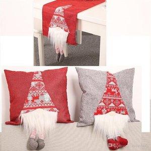 Christmas home decoration Sofa Car Cushion Cover 3D Doll legs New Year Table mat Table Runners Cloth Cover Home Decor Chair Pillowcase