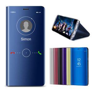 Smart Mirror Phone Case For Samsung Galaxy A8 Plus A6 2018 Original Clear Leather Case For Samsung Galaxy A7 A5 2018