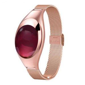 Z18 Lady Smart Watch Impermeable Pulsera deportiva Correa de metal Mujer Elegante Pulsera inteligente Presión arterial Rastreador de actividad física