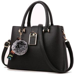 Nice2019 حزمة موجزة حقيبة يد الشعر الحلي حقيبة واحدة امرأة litchi الكرة خطوط الكتف قطري raqeb