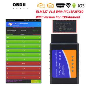 Scanner de diagnóstico obd2 327 V1.5 Car Ferramenta de diagnóstico ELM 327 WIFI 16pin OBD ELM327 V1.5 Suporte WIFI IOS Android elm
