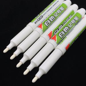 DIY Металл Водонепроницаемый Постоянная краска фломастеров Находчивый белый 6мм Student Supplies Marker Pen Craftwork Жирная