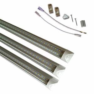 Fila doble tubos LED luces en forma de V-8 pies 6 pies 5 pies 4 pies Integrated 26W 36W 45W 72W Cree llevó iluminación fluorescente AC85V-265V 50pcs / lot Crestech