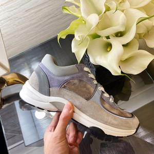 Comfort Women Men Casual Shoes Sneakers Top Ladies Silk Suede Leather Shoes Sneakers Paris Jogging Party Dress Platform Fluorescence Shoe