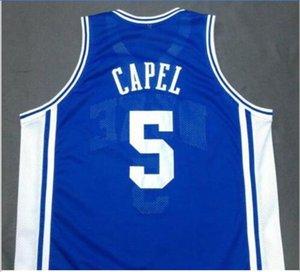 Özel Erkekler Gençlik kadınlar 5. DUKE Blue Devils Mavi JEFF CAPEL III Basketbol Jersey Boyut veya özel herhangi bir ad veya numara formayı-5XL S