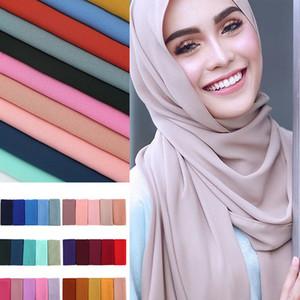 2019 kadın müslüman kabarcık şifon başörtüsü eşarp femme musulman şallar ve islam başörtüsü hindi eşarp peçe sarar