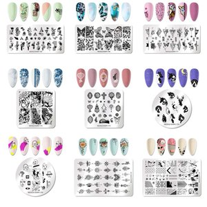 New Butterfly Theme Printing Plate Nail Plate Square Printing Plate Painted Oil Template Diy Nail Art