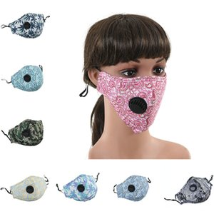 Floral Print Mask with breather valve Breathable Mouth Masks Anti Dust Washable Reusable Face mask cover Designer Mask 300pcs T1I2103
