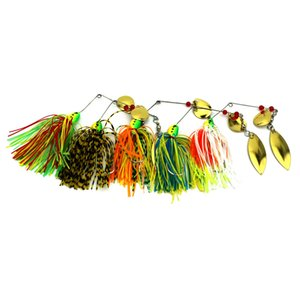 HENGJIA 80pcs 17g head buzzbaits hard Metal sequins lures wobblers sinking Fishing Lures Spinnerbait Blade pesca fishing tackles
