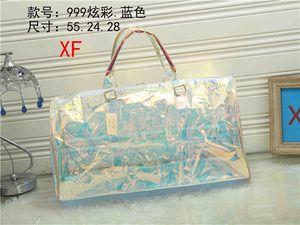 Diseñador de flor vieja bolsos transparentes hombres mujeres de gran recorrido de la capacidad bolsa de lona bolsa de equipaje al aire libre bag8858 paquetes de deporte