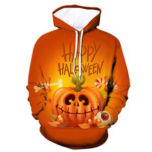 Hallows Day Mens Designer con cappuccio Moda Hallows Stampa pullover del lungo Maschi manica con cappuccio Big Pocket Teenager Abbigliamento