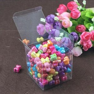 10Pcs lot Transparent Clear Gift Candy Box Square PVC Boxes Supplies Bags Decoration Party Wedding Chocolate Event Favor Z3Y5
