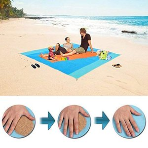 2 tailles magique Sandless Beach Mat Outdoor Voyage été imperméable Beach Blanket Portable Ultra Durable Sandfree Camping Matelas
