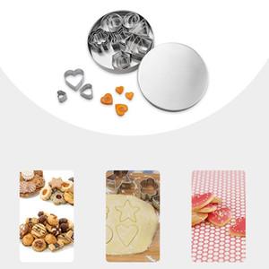 Формы для выпечки из нержавеющей стали формочки для печенья плунжер печенье DIY плесень Звезда сердце резак выпечки плесень трафареты кондитерские изделия YQ01504