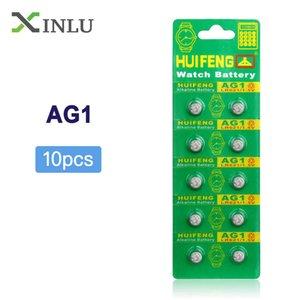 بطاريات زر الخليوي 10pcs AG1 SR621SW 364 TR621SW CX60 621 SR60 LR60 زر خلية البطارية عملة لساعة، بطارية 10PCS AG1