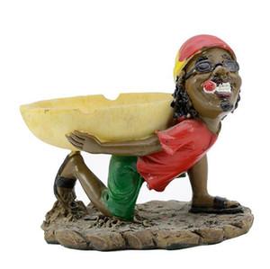 Yeni reçine Jamaikalı korsan küllük iskelet karpuz küllük