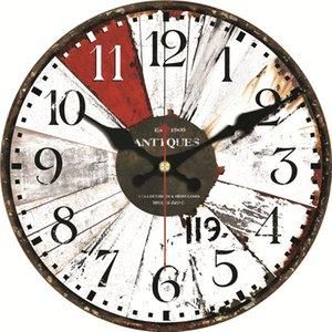 Çevre Dostu Vintage Ahşap Saatler Mutfak Duvar Sanatı Büyük Duvar Saatleri Tasarım Sessiz Ev Cafe Büro Duvar Dekor Saatler Brief 16inch
