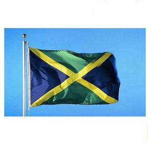 Jamaïque Drapeau 3x5ft 90x150 cm Pays Drapeaux Nationaux de la Jamaïque avec des drapeaux Deux Œillets Bannière IIA414