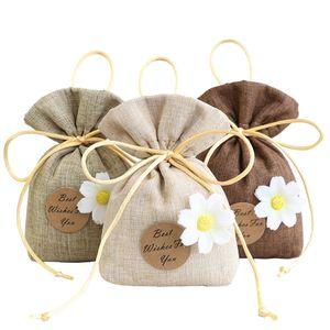 Poşet poşet İpli boş şeker bitkisel çay paketi küçük hediye çantası lavanta aromaterapi çiçek sevimli yatak odası deodorantı