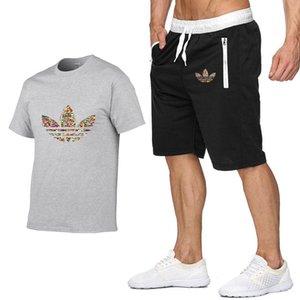 Uomini Tuta estate moda maschile Abbigliamento Tute Designer hip-hop sport casuali T-shirt + shorts della spiaggia da jogging uomini due pezzi