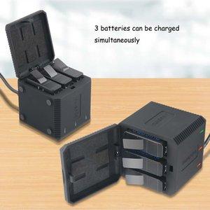 7 6 5 블랙 영웅 5 6 개 액세서리 GoPro의 영웅에 대한 상자 운반 케이스 배터리 하우징을 충전 3 슬롯 배터리 충전기 LED