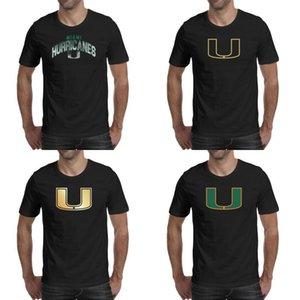 Para hombre de la impresión de los huracanes de Miami logotipo de fútbol negro de la camiseta divertidos magníficas camisas de superhéroes estadounidense de oro Núcleo de camuflaje de humo Gay